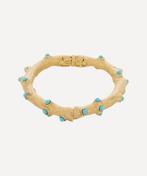 Gold-Plated Coral Cuff Bracelet