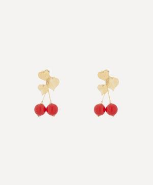 Gold-Plated Cherry Drop Earrings