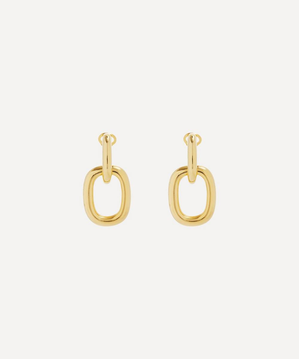 Kenneth Jay Lane - Gold-Plated Door Knocker Drop Earrings