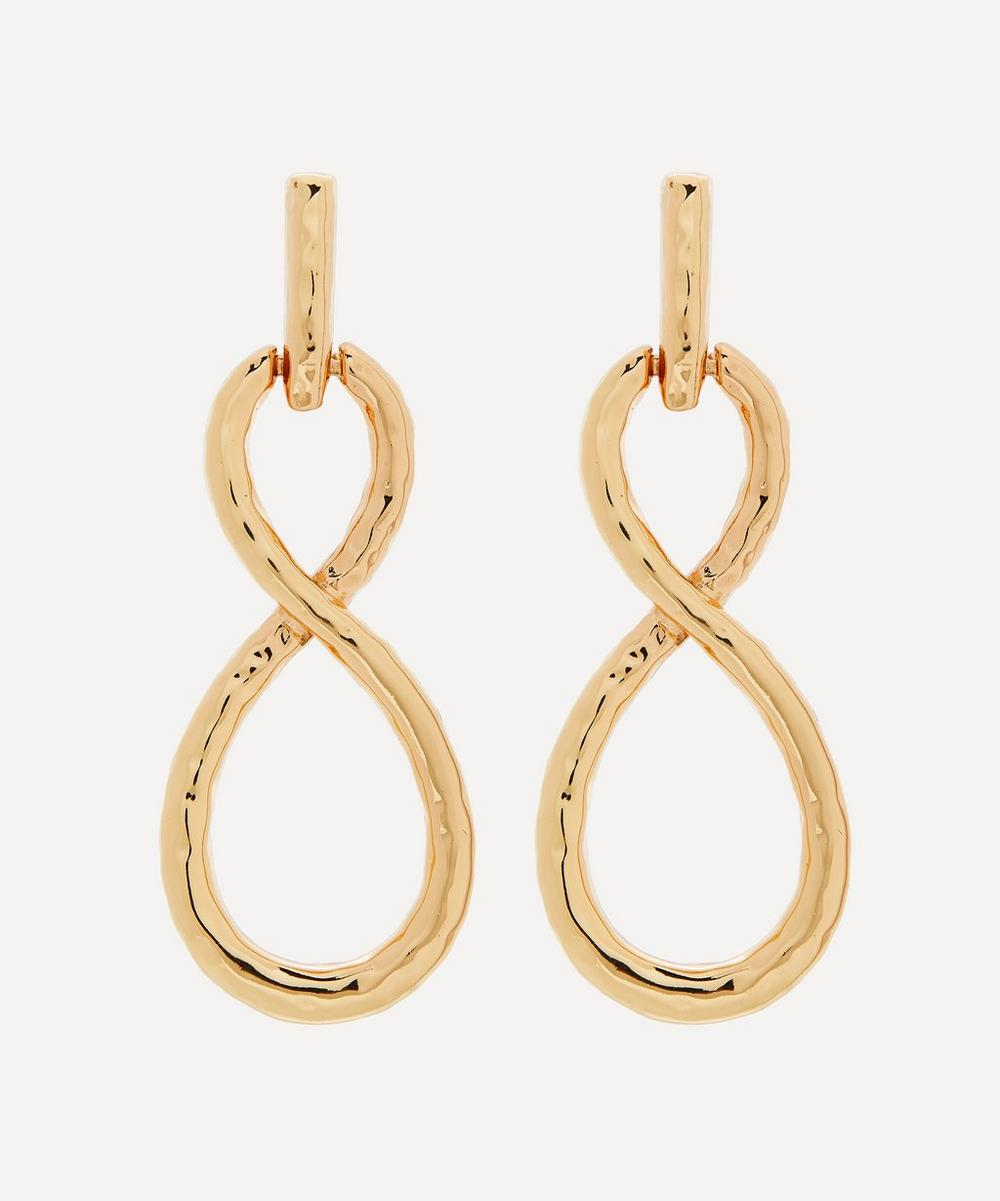 Kenneth Jay Lane - Gold-Plated Twist Loop Drop Earrings