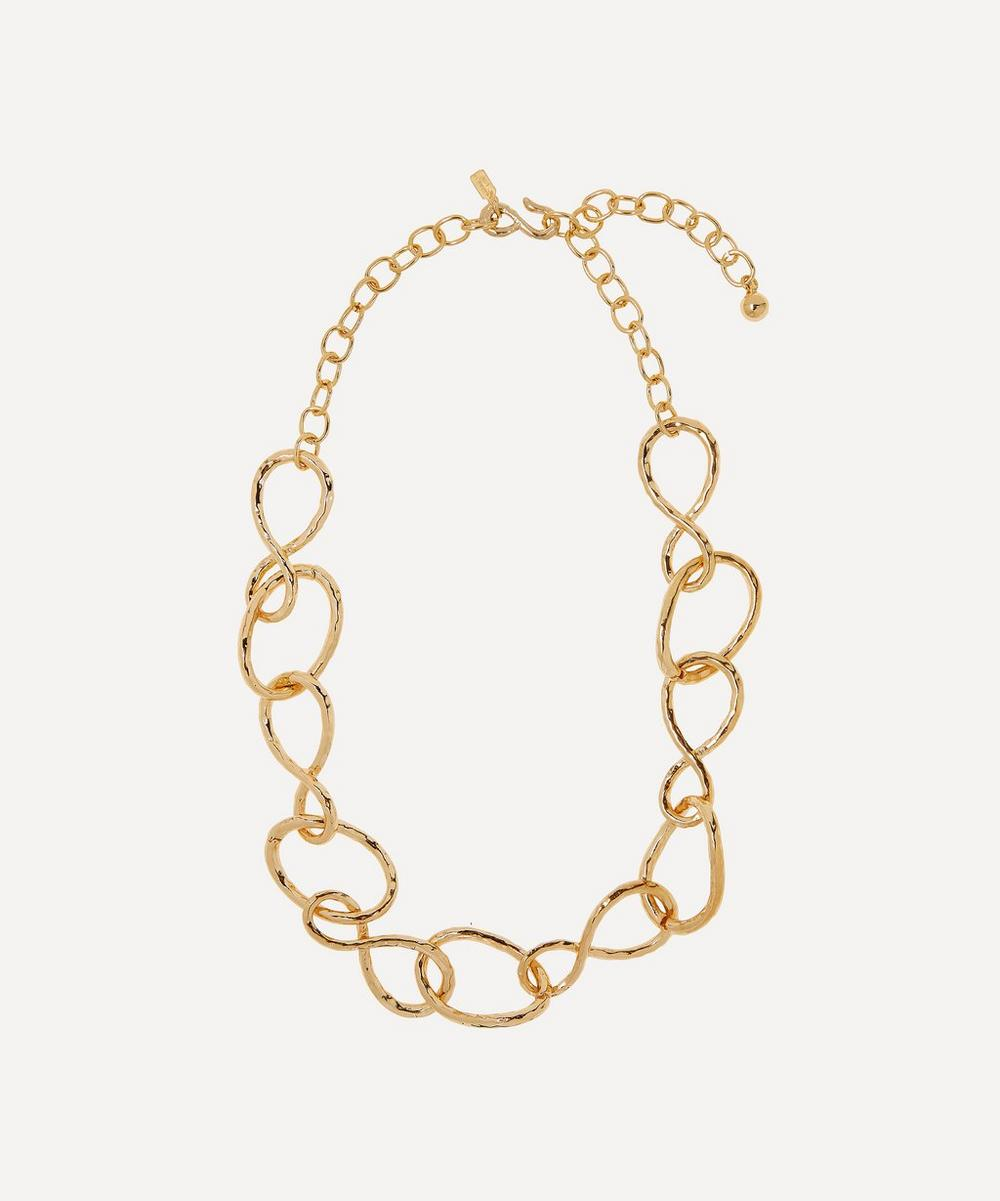 Kenneth Jay Lane - Gold-Plated Twist Link Necklace