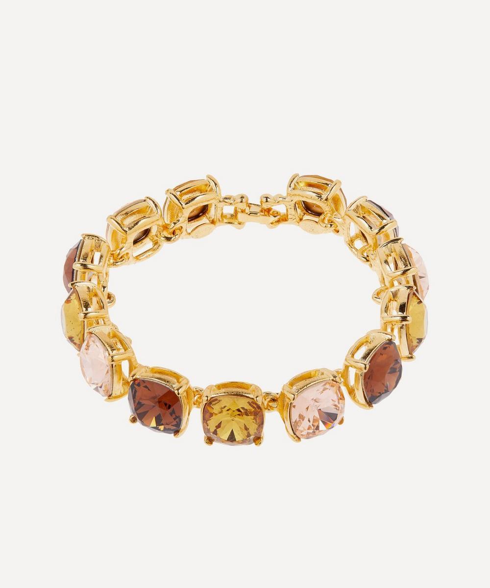 Kenneth Jay Lane - Gold-Plated Topaz Glass Crystal Bracelet