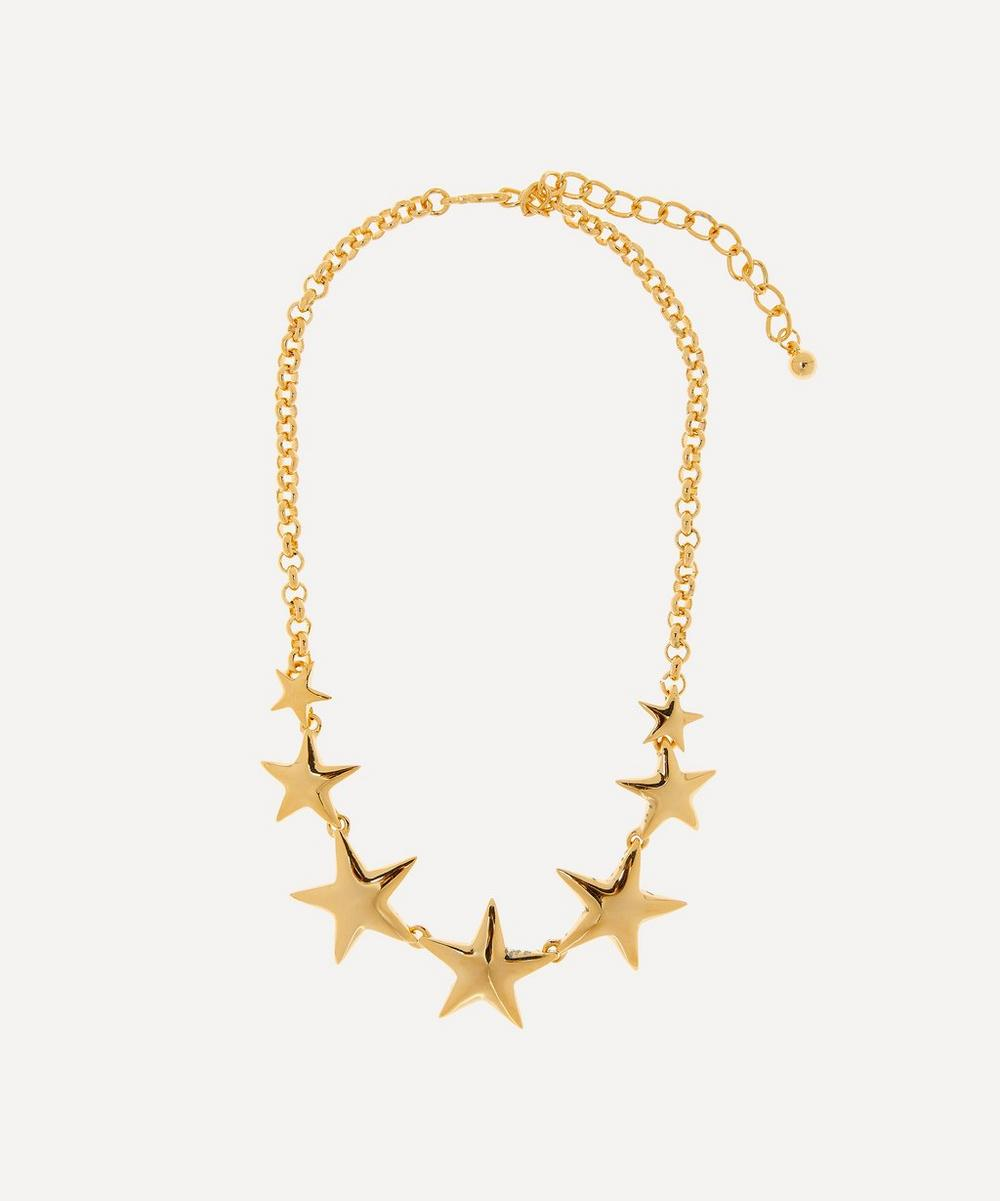 Kenneth Jay Lane - Gold-Plated Graduating Star Necklace
