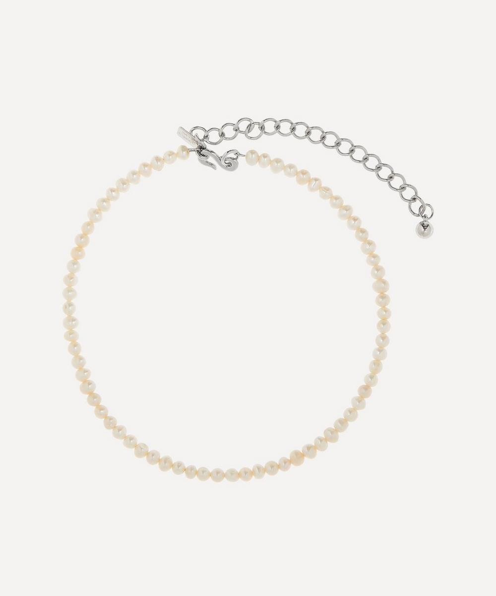 Kenneth Jay Lane - Rhodium-Plated Freshwater Pearl Choker Necklace