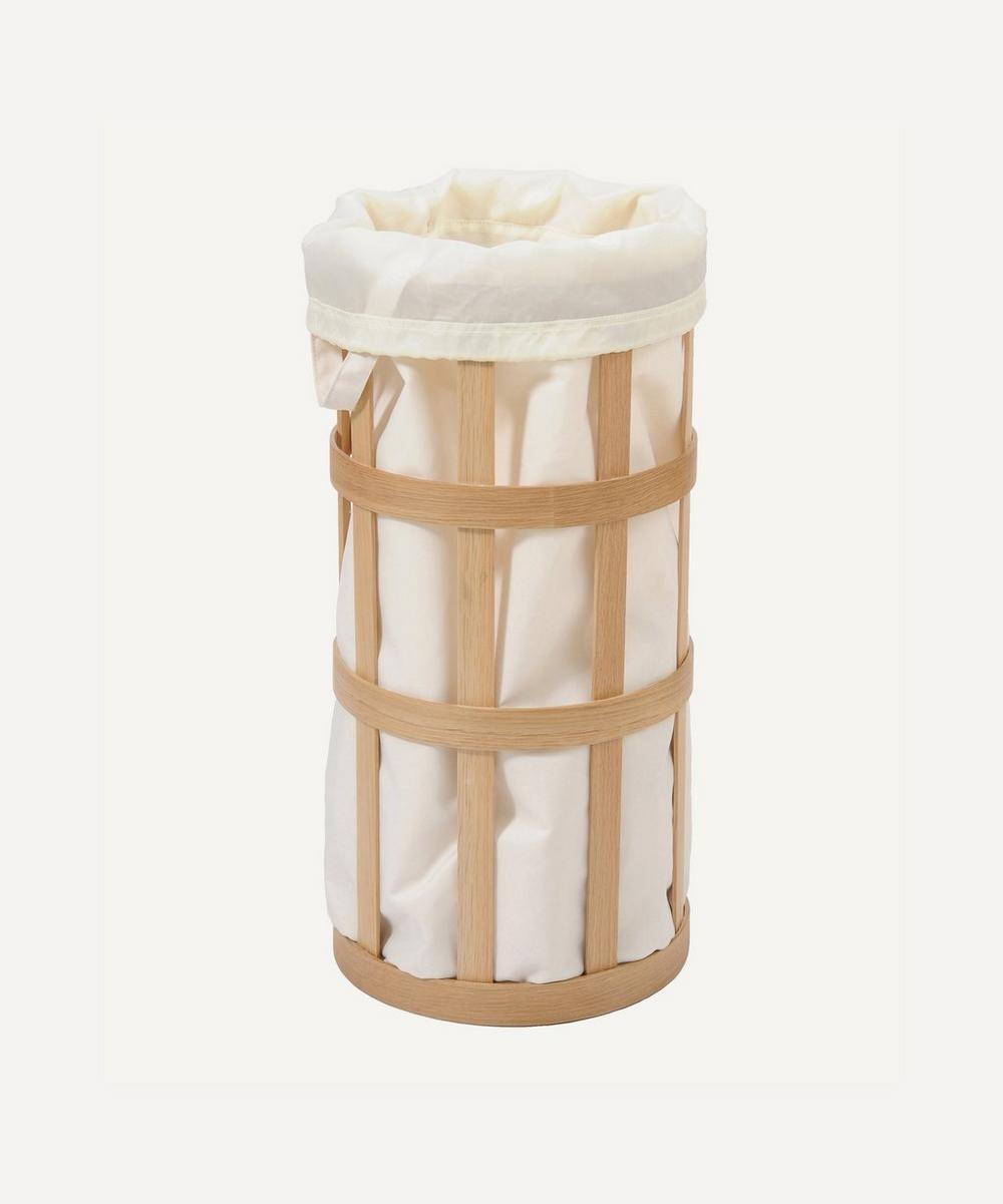 Wireworks - Natural Oak Laundry Basket Cage