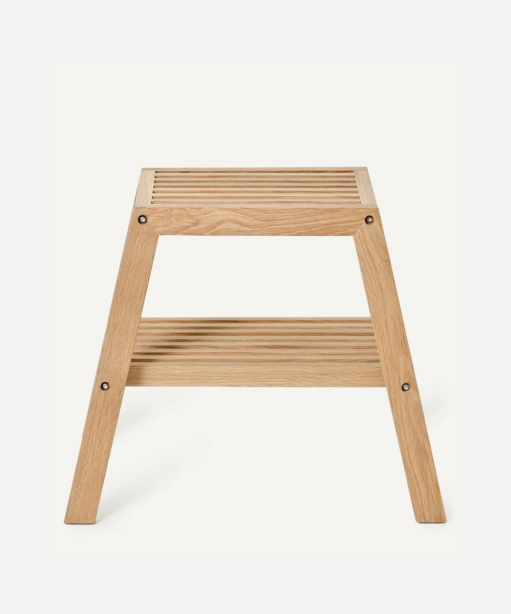 Wireworks - Natural Oak Slatted Stool