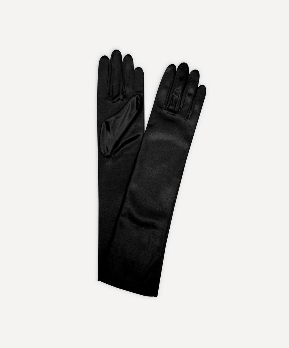 Dents - Mid-Length Satin Evening Gloves