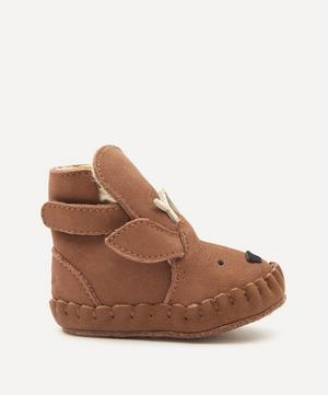Kapi Stag Leather Baby Shoes 3 Months-3 Years