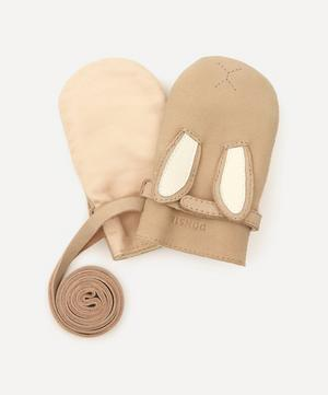 Kapi Bunny Leather Mittens 1-6 Years