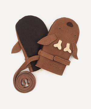 Kapi Stag Leather Mittens 1-6 Years