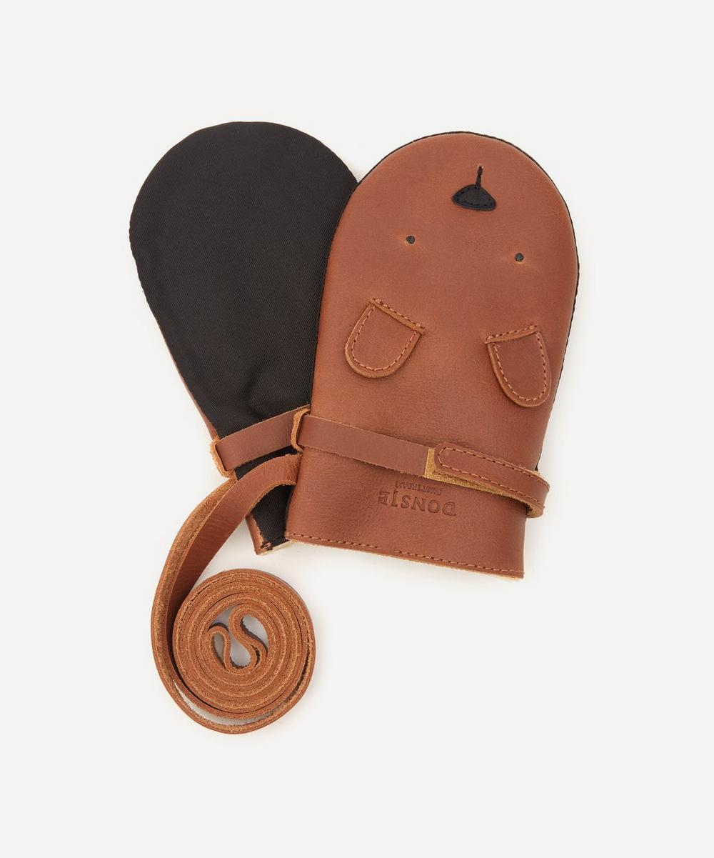 Donsje - Kapi Bear Leather Mittens 1-6 Years