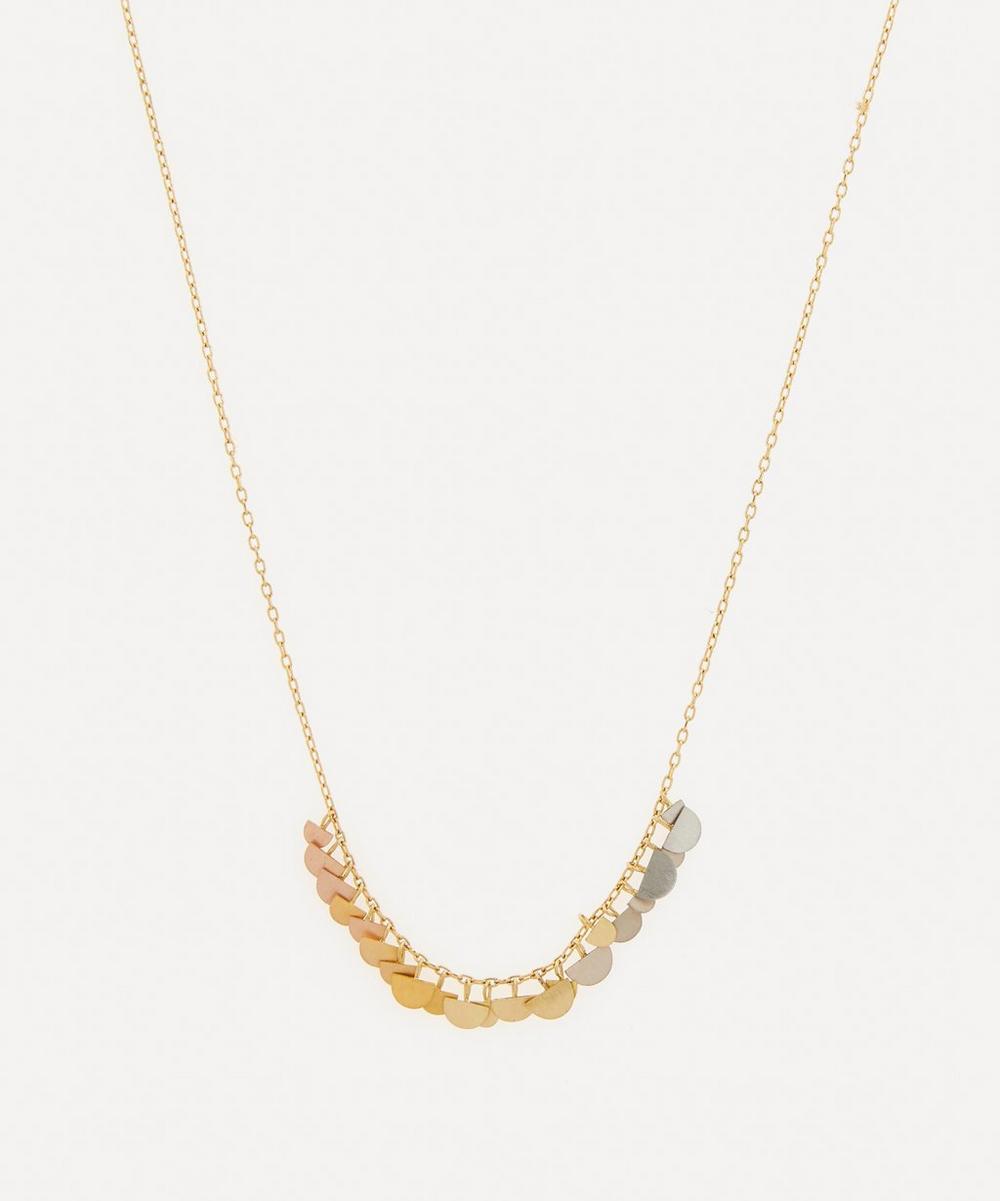 Sia Taylor - Rainbow Gold Sunrise Arc Necklace