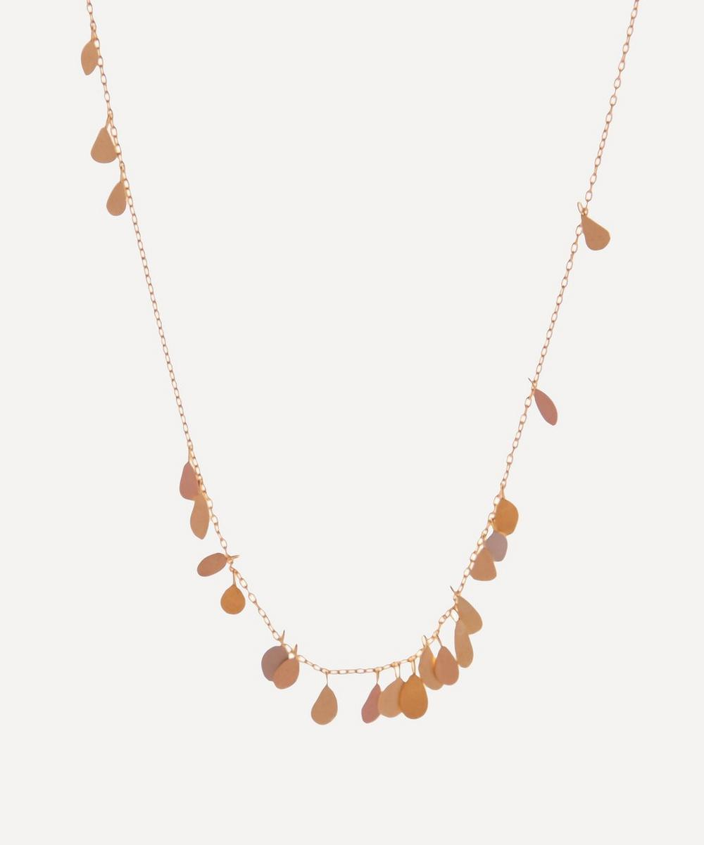 Sia Taylor - Rainbow Gold Raindrop Necklace