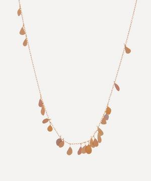Rainbow Gold Raindrop Necklace