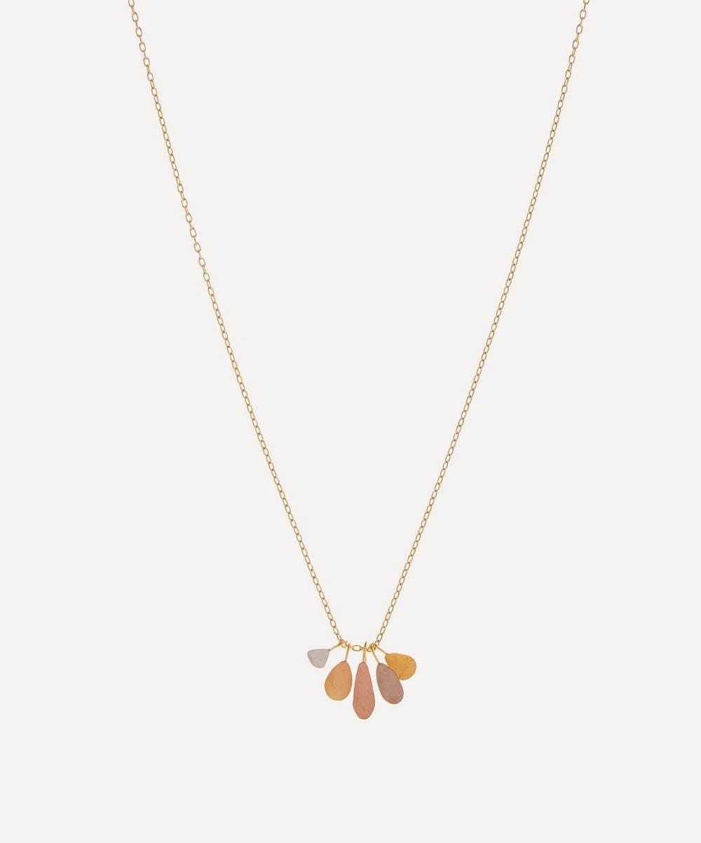 Sia Taylor - Rainbow Gold Raindrop Pendant Necklace