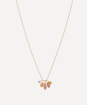 Rainbow Gold Raindrop Pendant Necklace