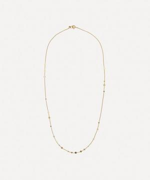 Gold and Platinum Scattered Dust Necklace