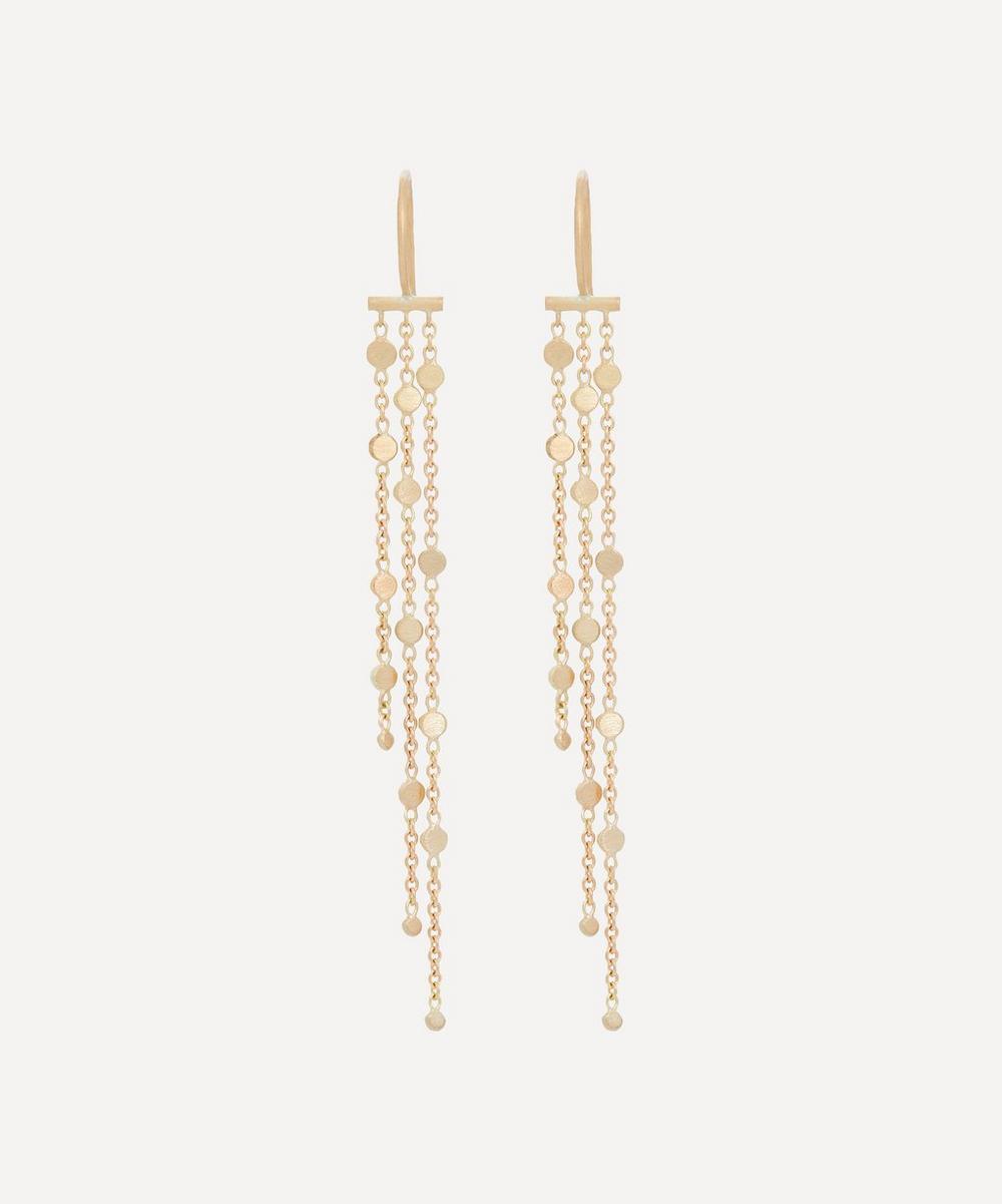 Sia Taylor - Gold Falling Dust Drop Earrings