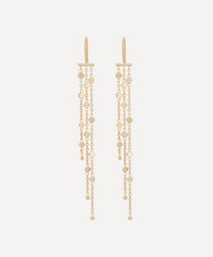 Gold Falling Dust Drop Earrings