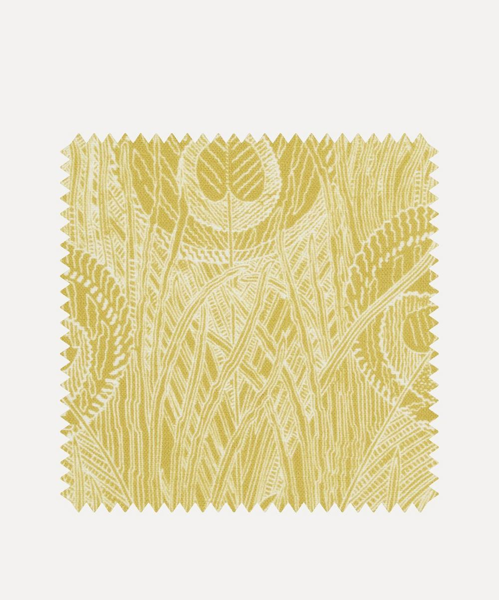Liberty Fabrics Interiors - Fabric Swatch - Hebe Marlowe Linen in Lichen Chartreuse