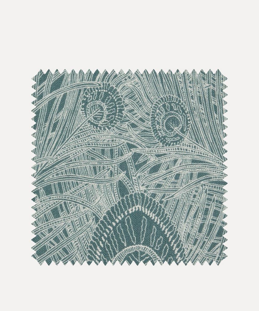 Liberty Fabrics Interiors - Fabric Swatch - Hebe Marlowe Linen in Lichen Robin's Egg