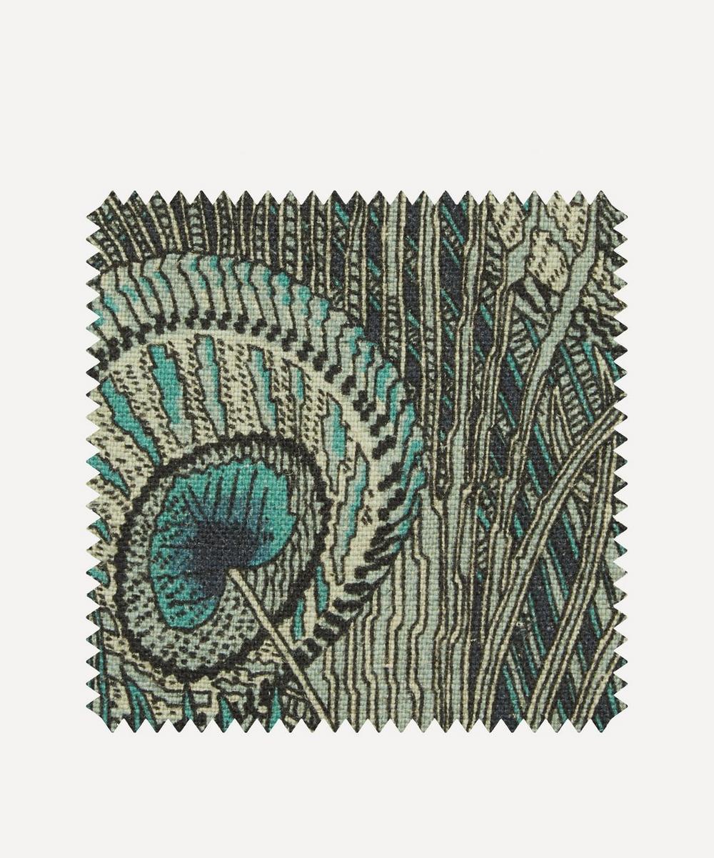 Liberty Fabrics Interiors - Fabric Swatch - Hera Feather Ladbroke Linen in Jade