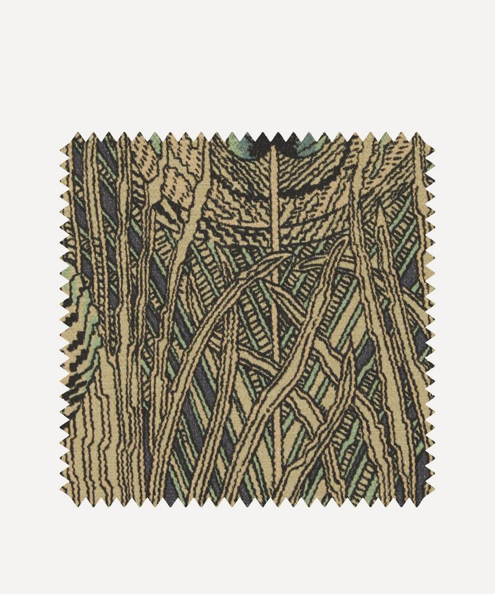 Liberty Fabrics Interiors - Fabric Swatch - Hera Feather Vintage Velvet in Jade