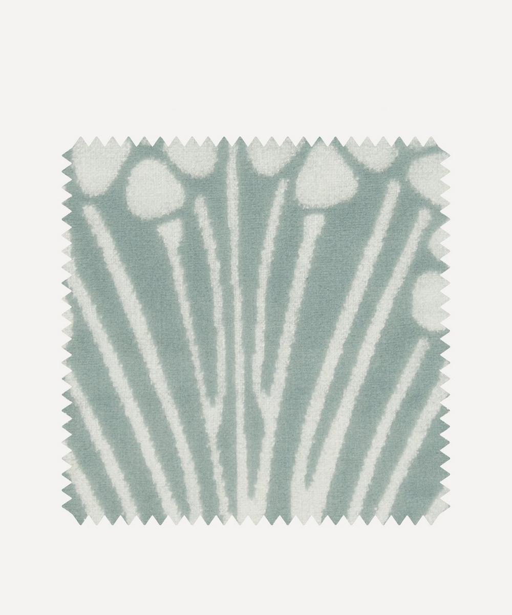 Liberty Fabrics Interiors - Fabric Swatch - Ianthe Bloom Mono Chiltern Linen in Lichen