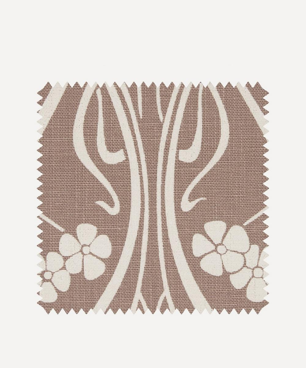 Liberty Fabrics Interiors - Fabric Swatch - Ianthe Bloom Stencil Chiltern Linen in Lacquer