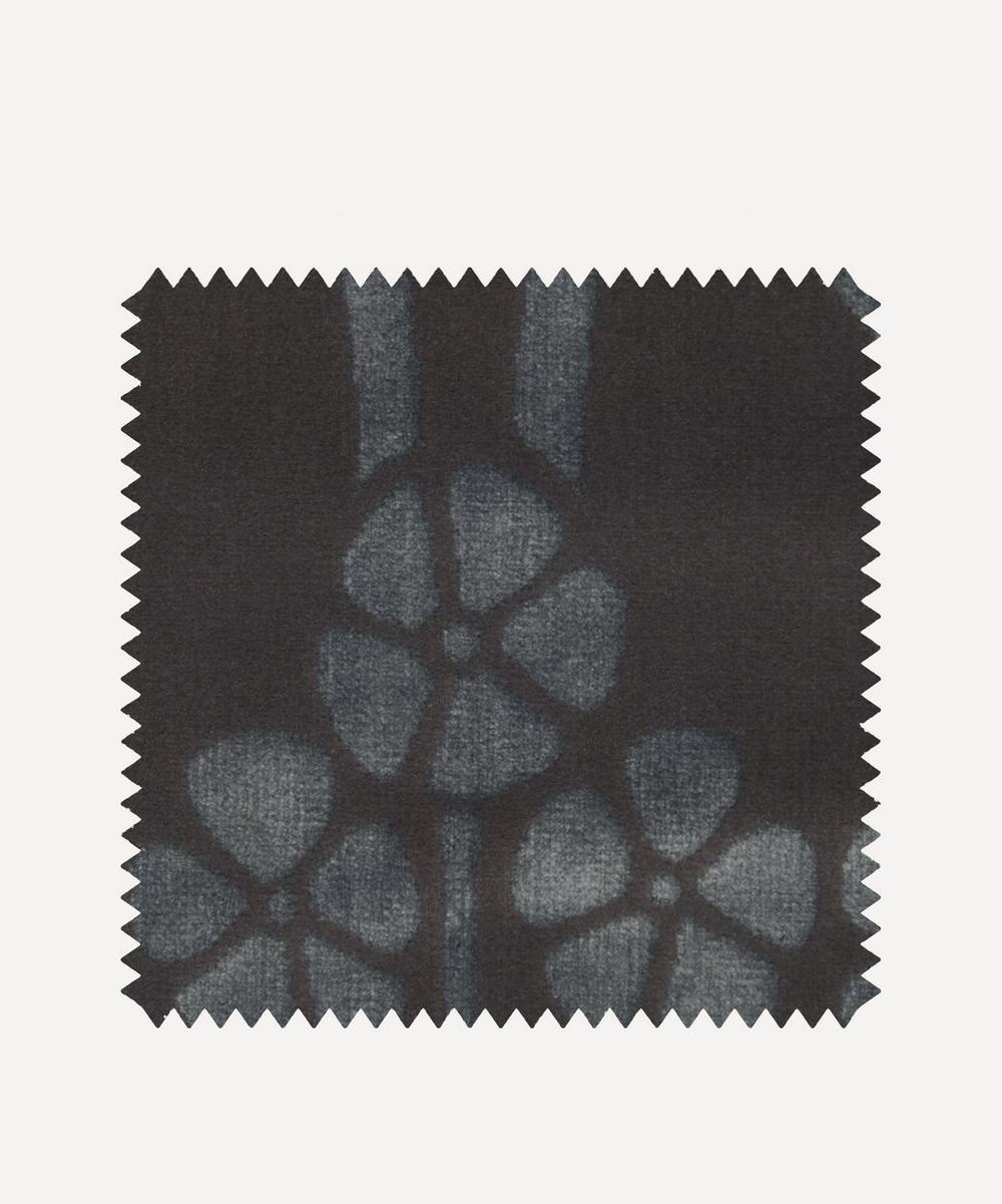 Liberty Fabrics Interiors - Fabric Swatch - Ianthe Velvet in Pewter