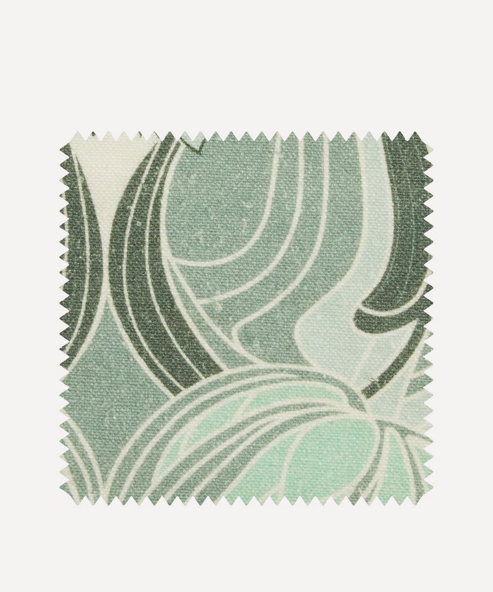 Liberty Fabrics Interiors - Fabric Swatch - Katherine Nouveau Emberton Linen in Jade