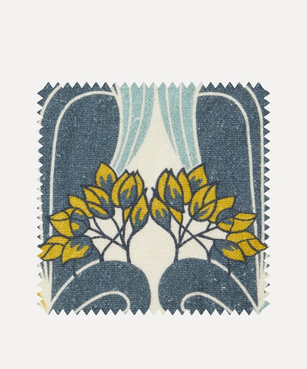 Liberty Fabrics Interiors - Fabric Swatch - Katherine Nouveau Emberton Linen in Lichen