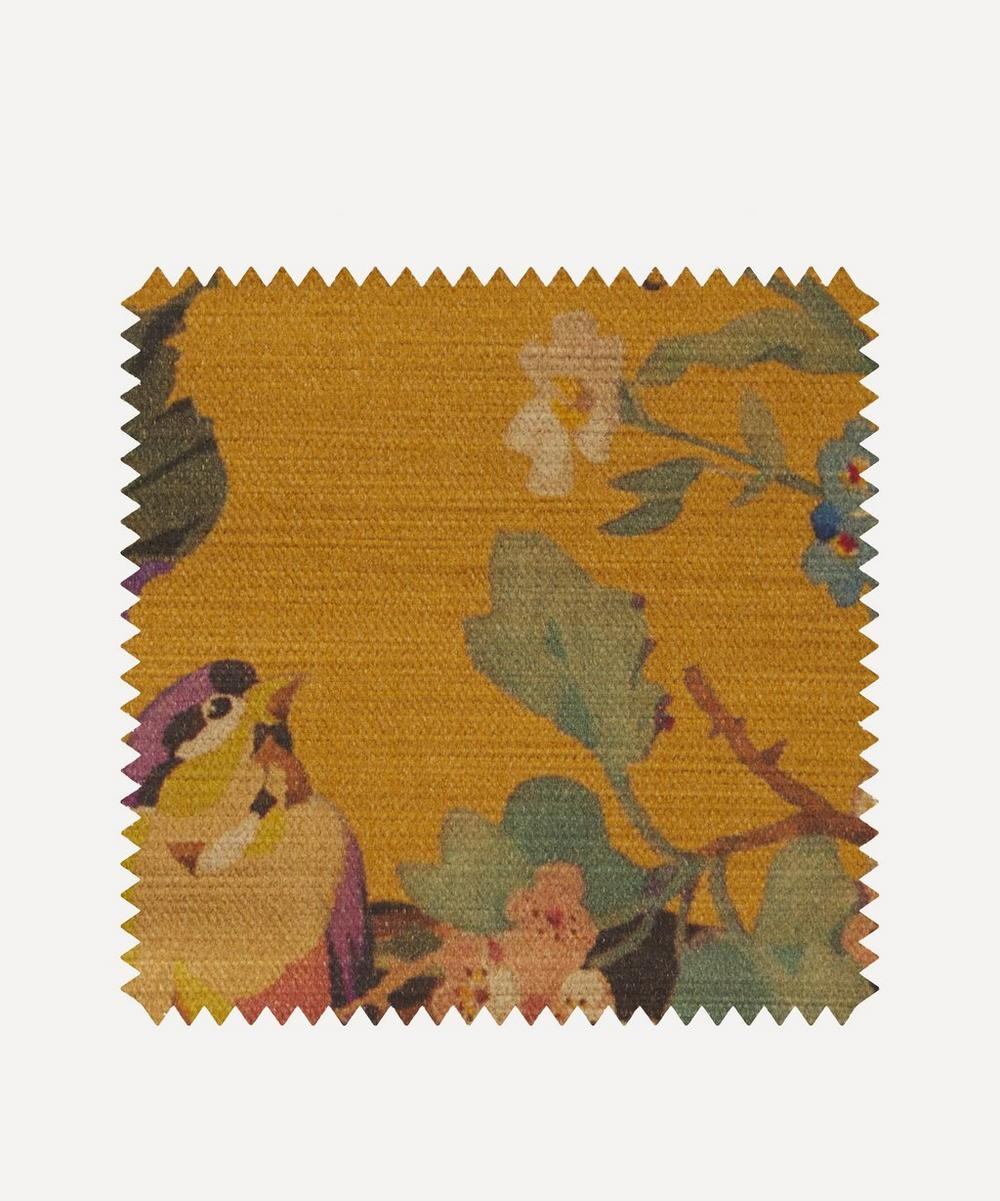 Liberty Fabrics Interiors - Fabric Swatch - Lady Kristina Rose Vintage Velvet in Lichen