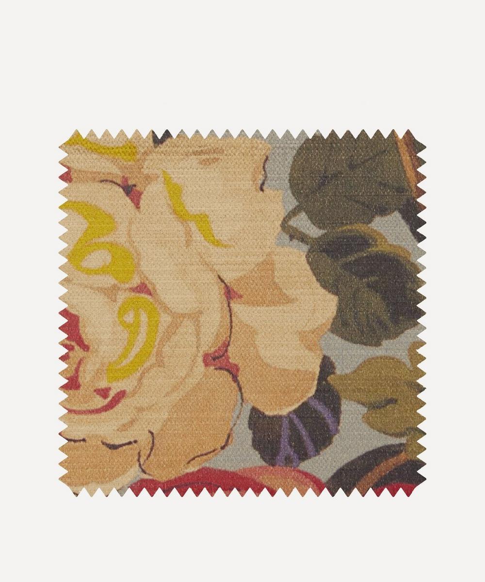 Liberty Fabrics Interiors - Fabric Swatch - Lady Kristina Rose Vintage Velvet in Pewter