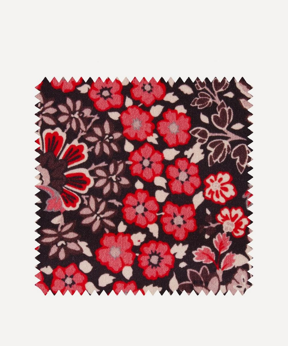 Liberty Fabrics Interiors - Fabric Swatch - Marquess Garden Cotton Velvet in Lacquer