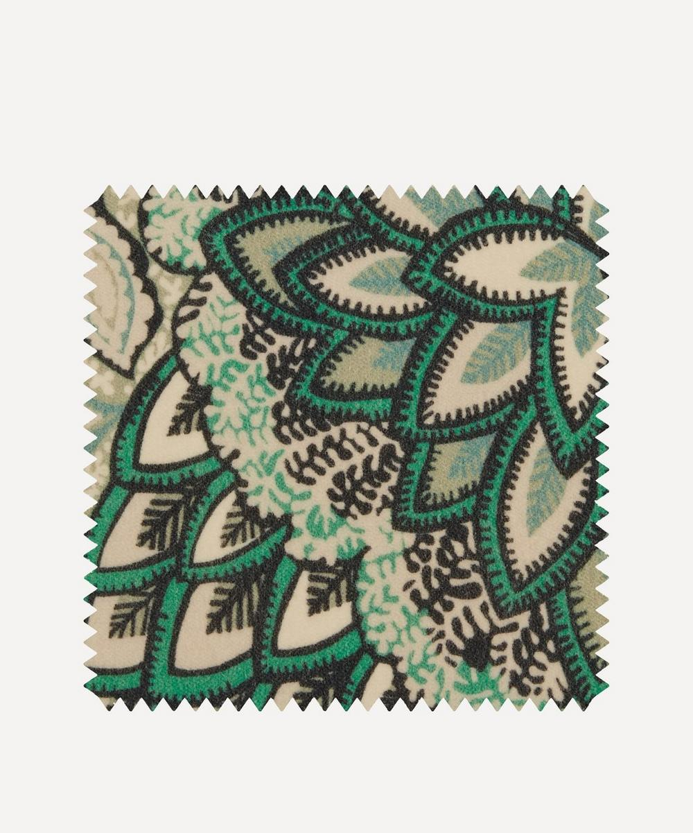 Liberty Fabrics Interiors - Fabric Swatch - Patricia Cotton Velvet in Jade