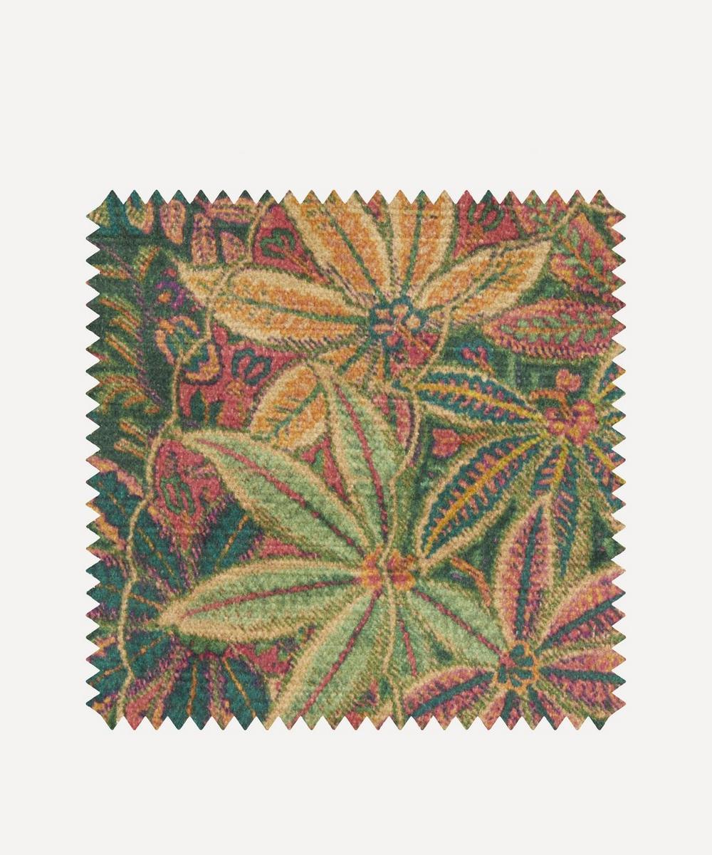 Liberty Fabrics Interiors - Fabric Swatch - Shand Voyage Vintage Velvet in Jade