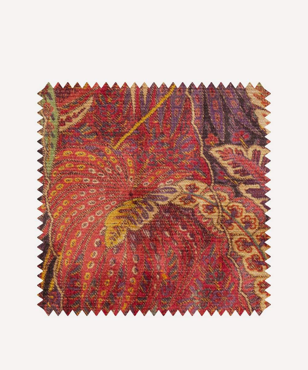 Liberty Fabrics Interiors - Fabric Swatch - Shand Voyage Vintage Velvet in Lacquer