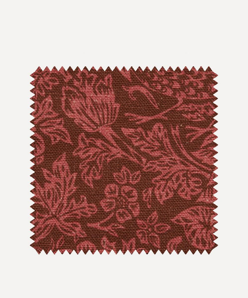 Liberty Fabrics Interiors - Fabric Swatch - Strawberry Meadowfield Ladbroke Linen in Lacquer