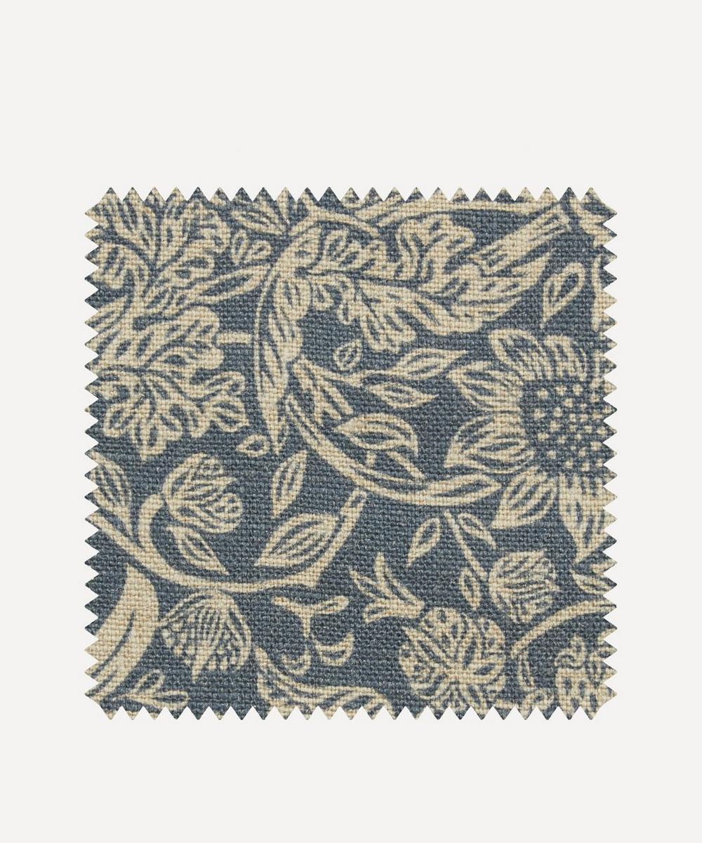 Liberty Fabrics Interiors - Fabric Swatch - Strawberry Meadowfield Ladbroke Linen in Lapis