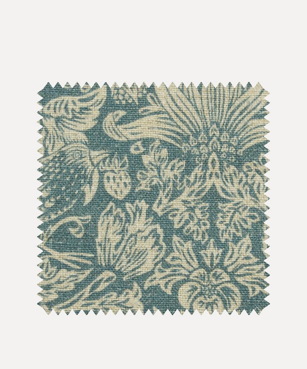 Liberty Fabrics Interiors - Fabric Swatch - Strawberry Meadowfield Ladbroke Linen in Lichen