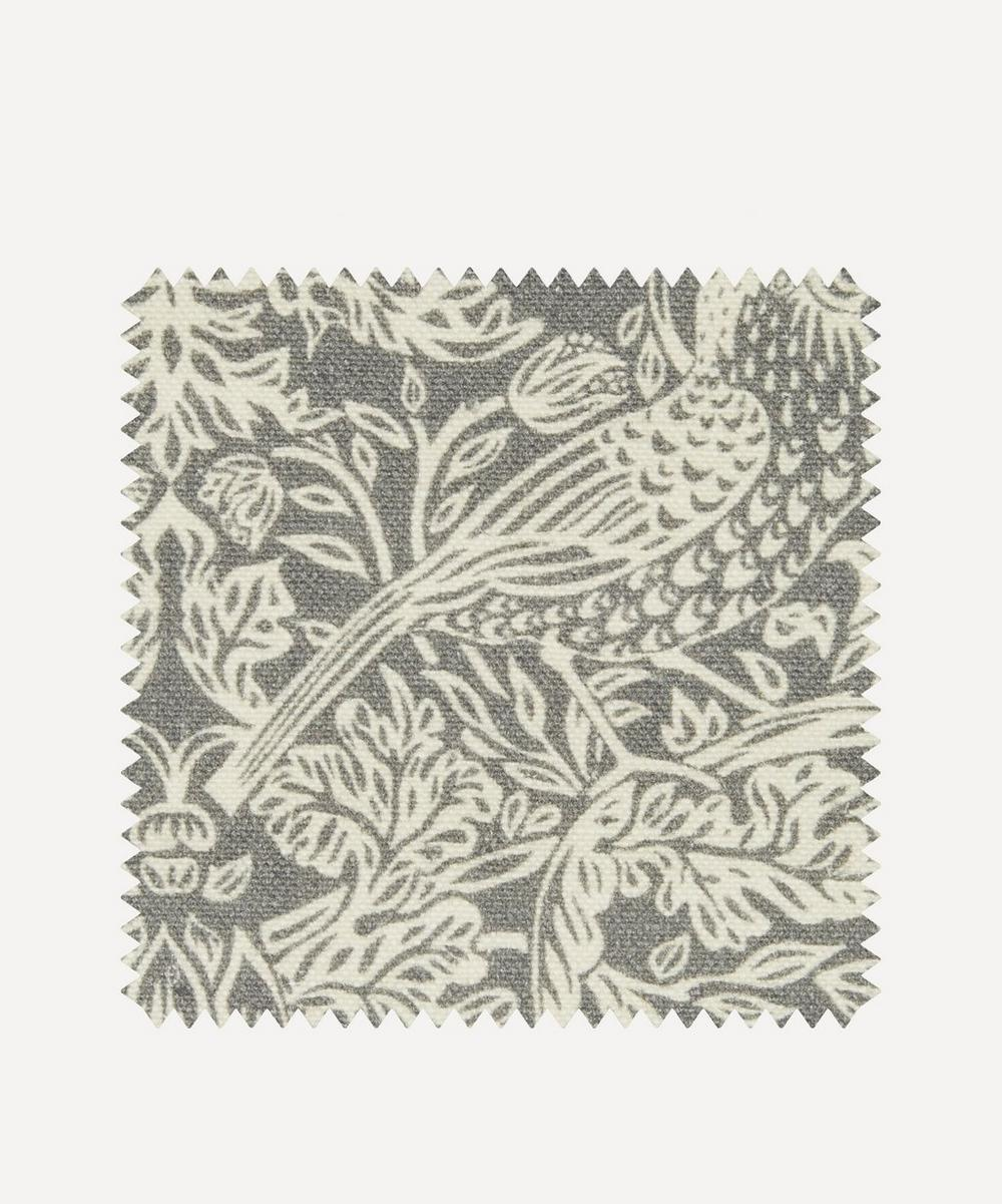 Liberty Fabrics Interiors - Fabric Swatch - Strawberry Meadowfield Emberton Linen in Pewter
