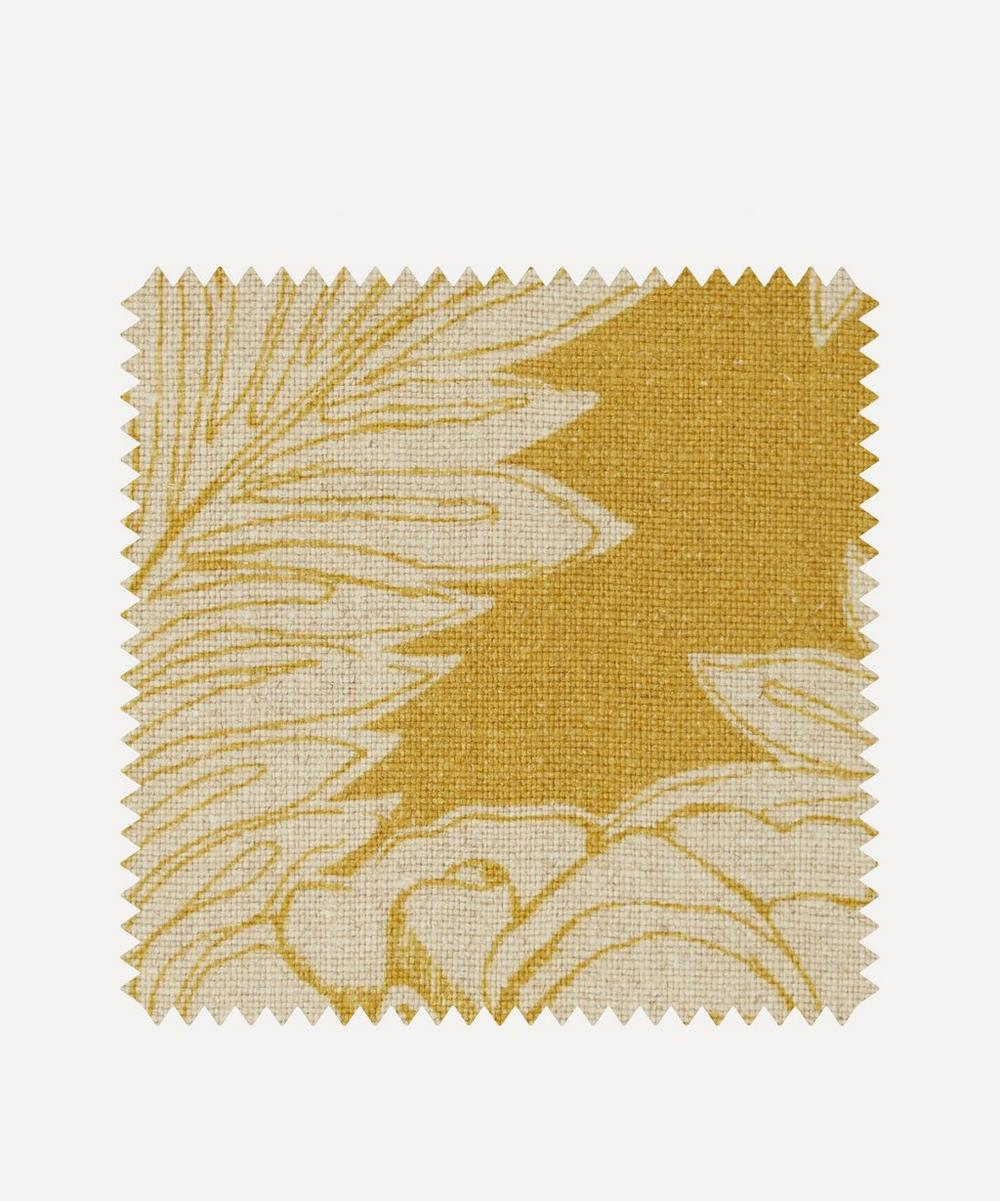Liberty Fabrics Interiors - Fabric Swatch - Zennor Arbour Ladbroke Linen in Lichen