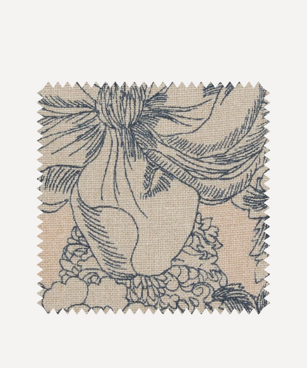 Liberty Fabrics Interiors - Fabric Swatch - Zennor Arbour Ladbroke Linen in Pewter Plaster Pink