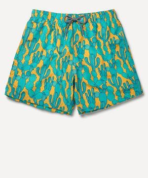 Dry Heat Print Swim Shorts
