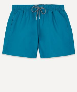 Teal Blue Water Reactive Swim Shorts