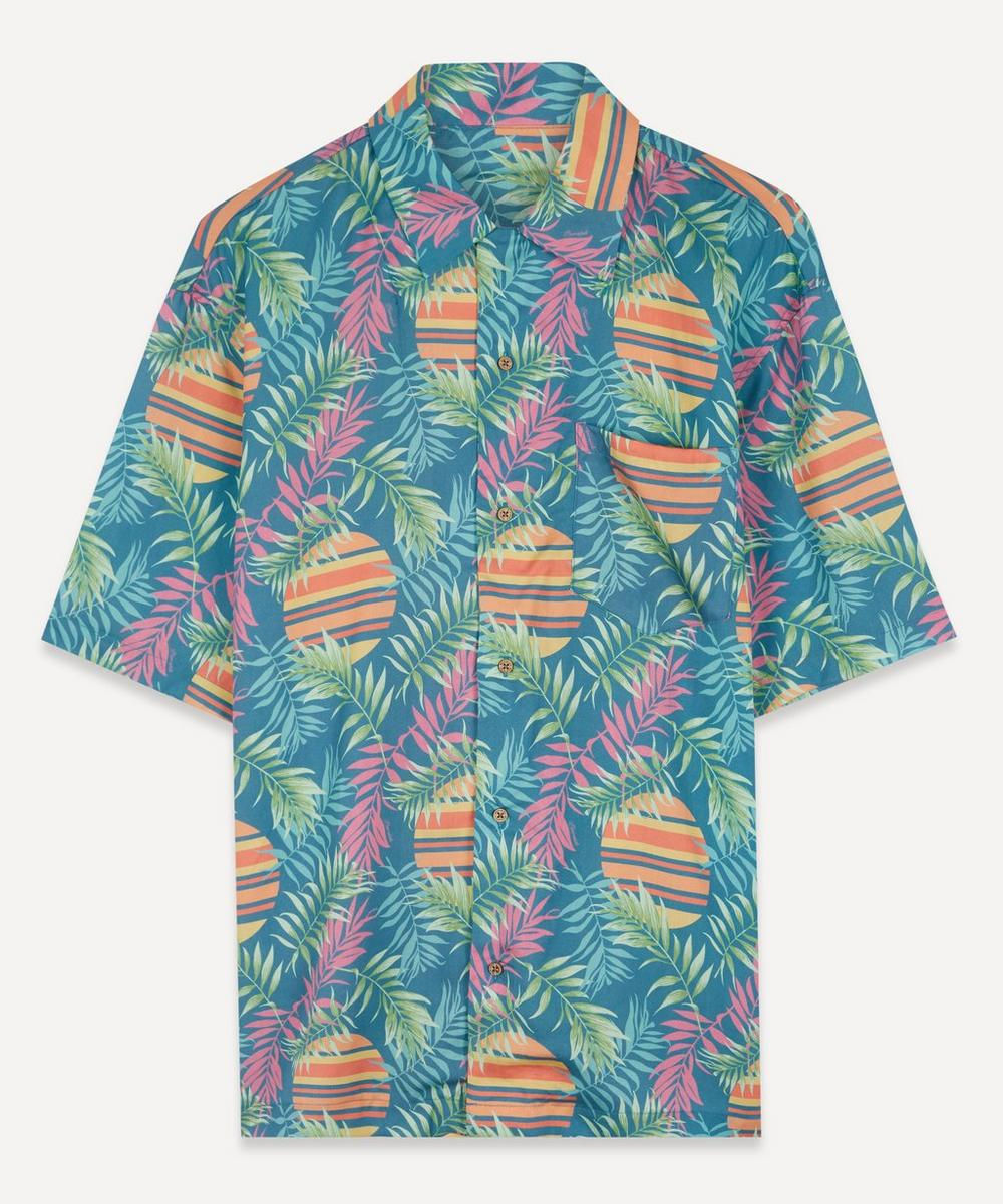 Boardies - Rising Palm Print Open Collar Shirt