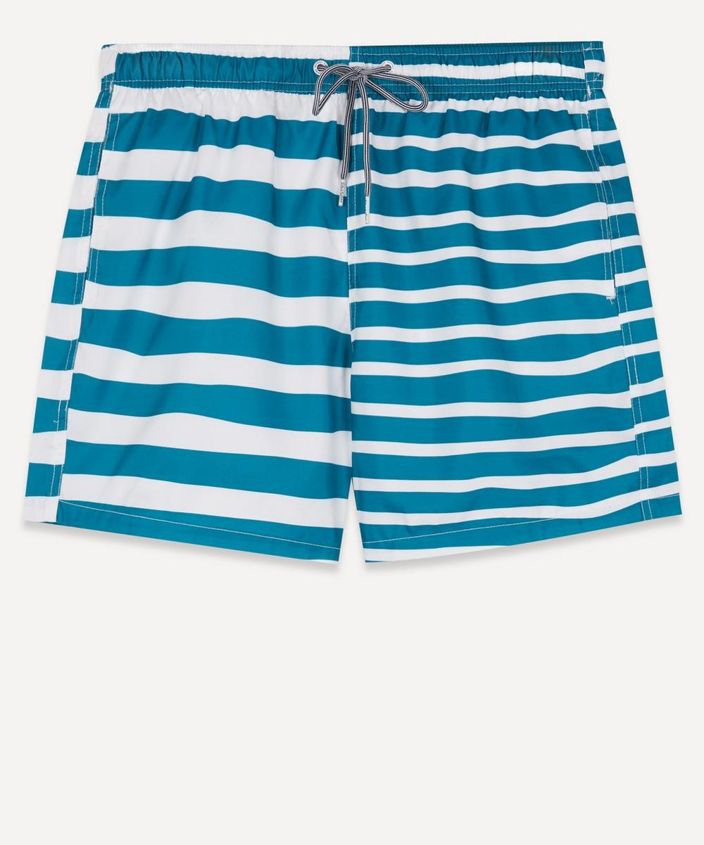Boardies - Double Stripe Print Swim Shorts