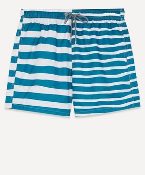 Double Stripe Print Swim Shorts