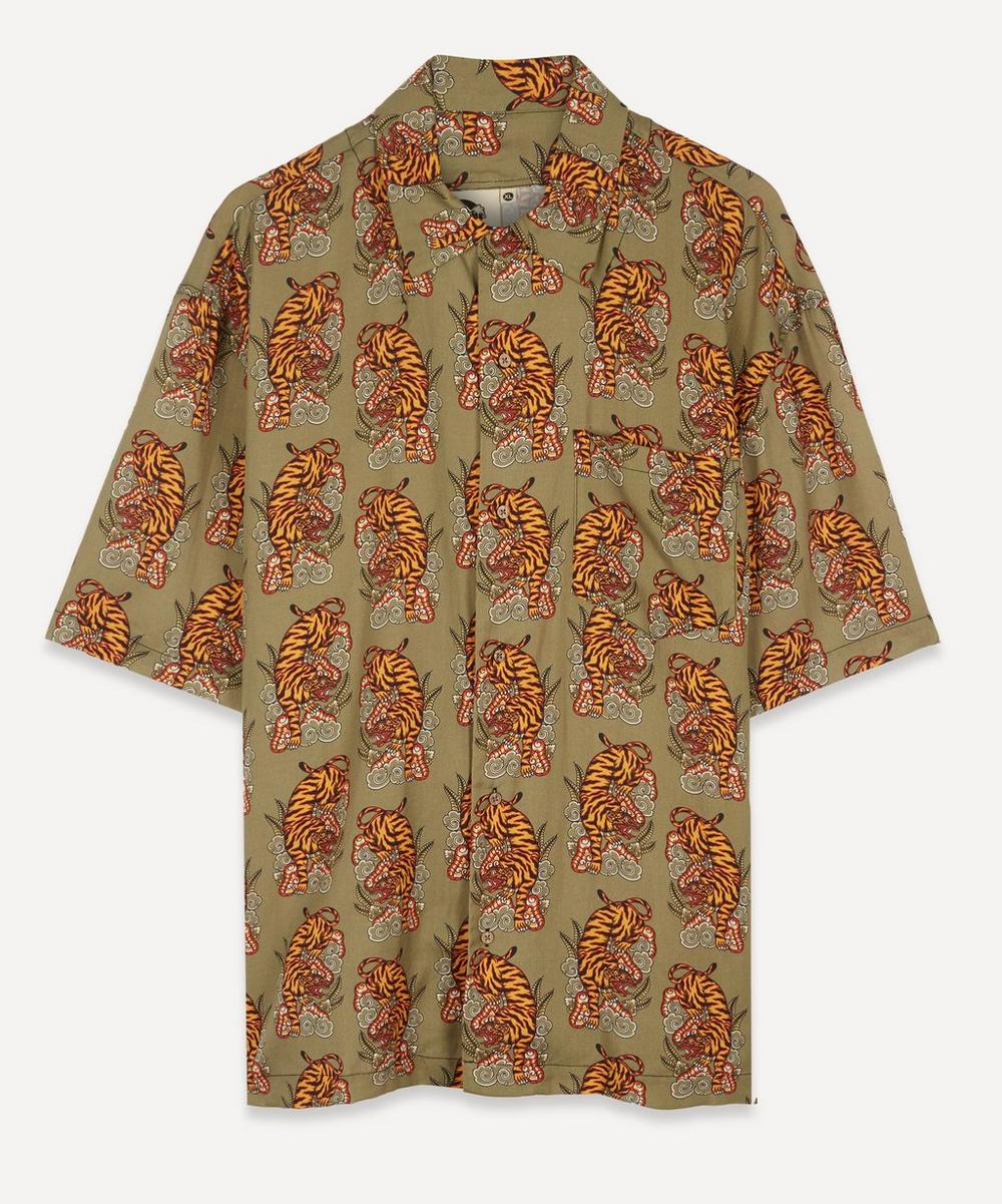 Boardies - Eka Tiger Print Open Collar Shirt